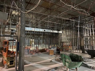 Inside the gutted MTS building